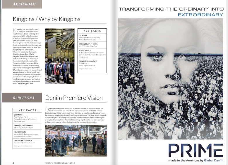 PRIME on Sportswear International Tradeshow Supplement