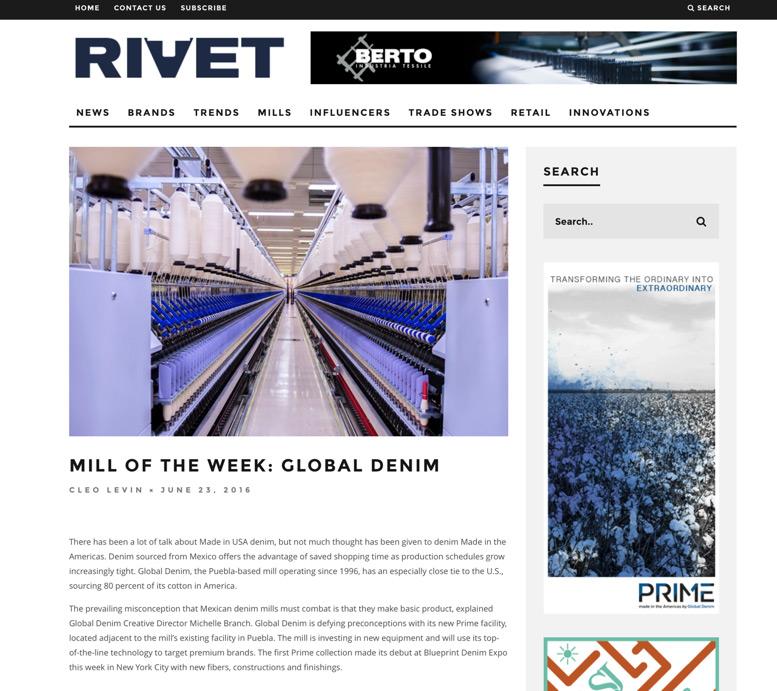 Global Denim is Mill of the Week