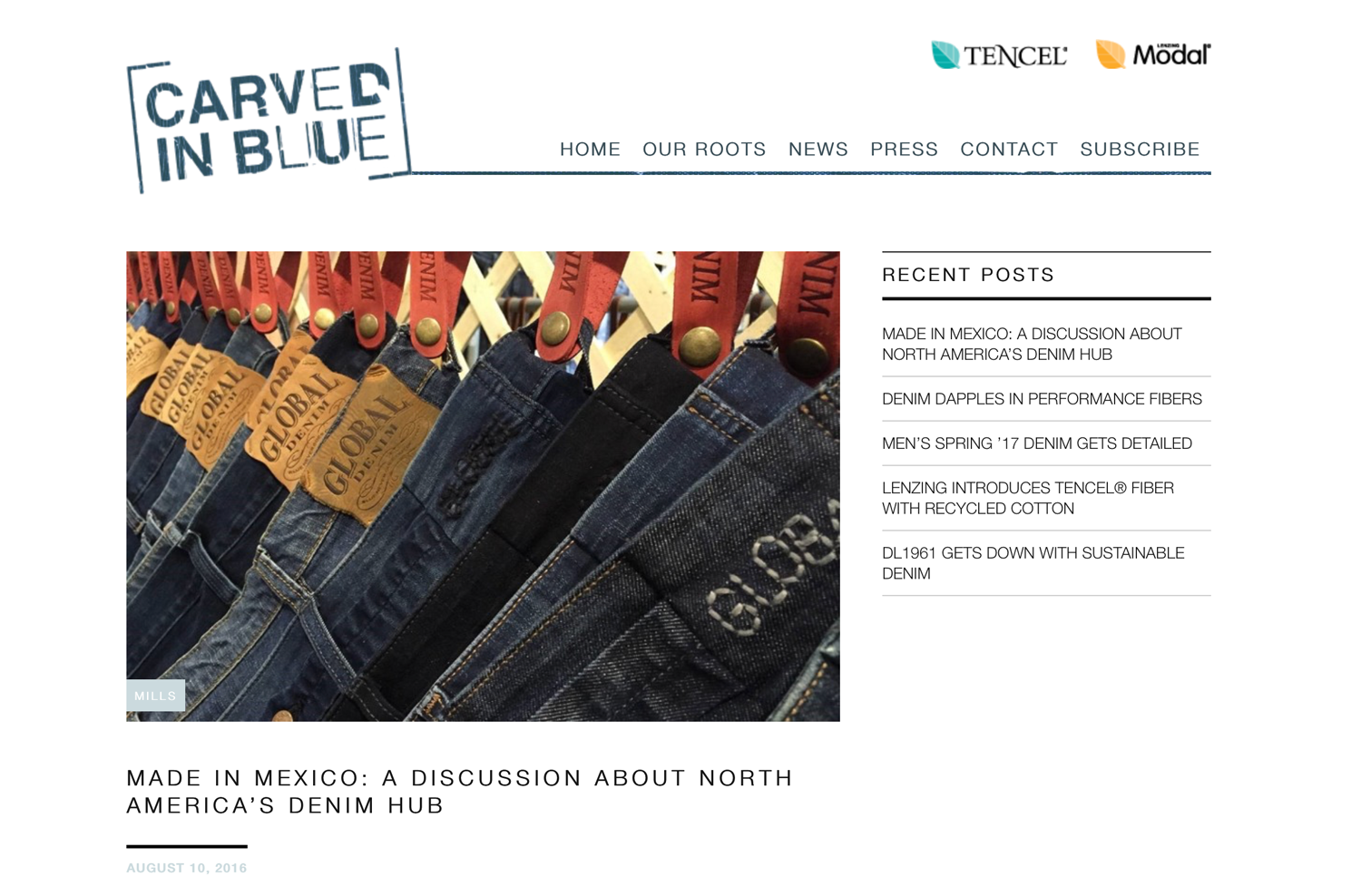 """Global Denim Feautured in Lenzing Article """"MADE IN MEXICO: A DISCUSSION ABOUT NORTH  AMERICA'S DENIM HUB"""""""
