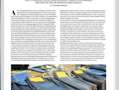 """Global Denim® featured on the print edition of Sportswear International new magazine """"The Fit Issue""""."""