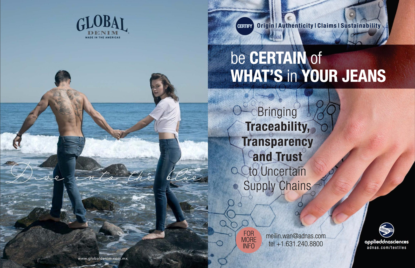 Global Denim® new campaign add on the latest Rivets Printed Magazine