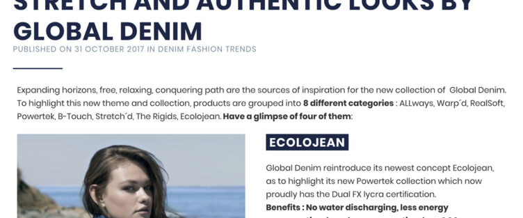 Global Denim Showcased at Denim PV Website