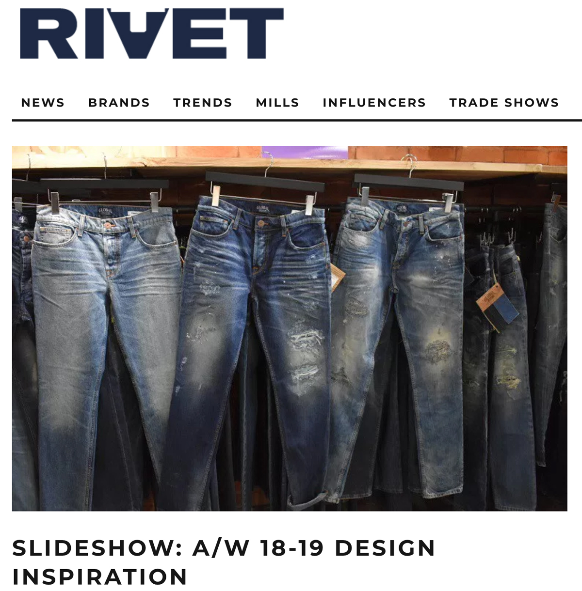 Global Denim® dictates trends for A/W 18-19