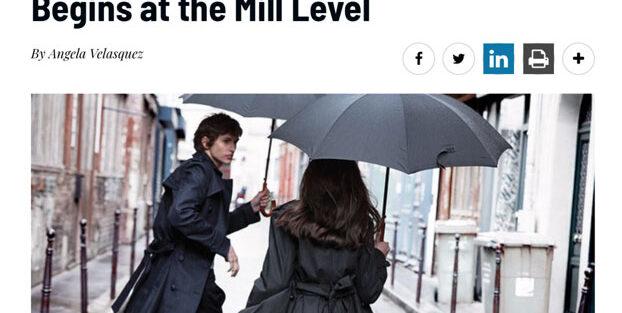 """Los esfuerzos ecológicos y de sustentabilidad de Global Denim reflejados en el artículo de Rivet titulado """"Mills Put Performance and Sustainability First at Kingpins Amsterdam"""""""